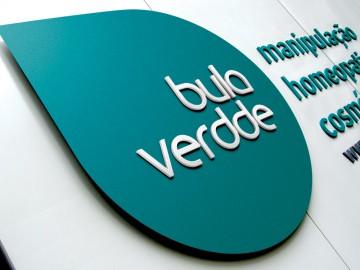 Bula Verdde - Logo na Fachada