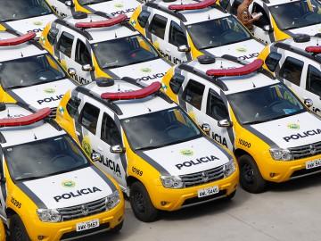 Viaturas da Polícia Militar do Estado do Paraná