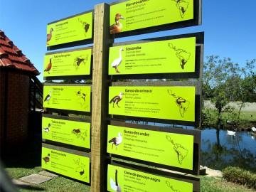 Sinalização Zoológico de Curitiba